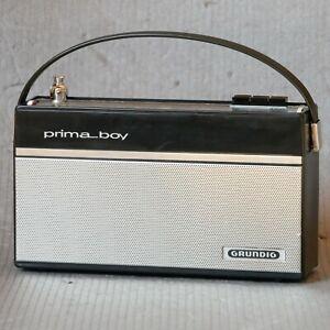 GRUNDIG prima boy 204 Radio Oldtimer Kofferradio 60er Jahre / UKM 49M