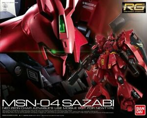 Gundam 1/144 MSN-04 Sazabi Neo Zeon Char Real Grade Model Kit Robot bandai Rg
