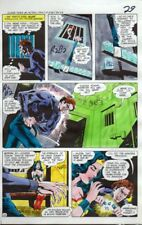 Original 1970's JLA Super Team Family color guide art page 29: Wonder Woman/Atom