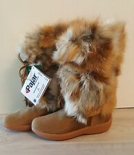Pajar Canada Women's Fox Trot Boots - Beige - Real Fur - Sz. 40 - Made in Italy
