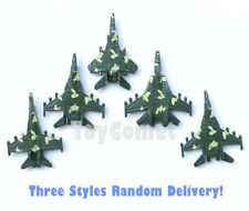 5 pcs Military Aircraft Fighter Plane Models Toy Soldier Army Men Accessories