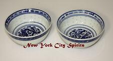 """Porcelain/Ceramic rice Bowl Set of 2 Pieces 4.5""""d. x 2.25""""h Dragon Designed"""
