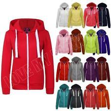 Plus Size Fleece Hooded Plain Hoodies & Sweats for Women