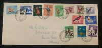1961 Springs South Africa cover Domestic Used First Republic Stamp FDc