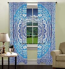 INDIAN MANDALA PRINT Kitchen Window Curtains Curtain & Valance Set Dorm Tapestry