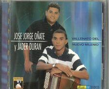 Jose Jorge Onate Y Jader Duran Vallenato Del Nuevo Milenio  Latin Music CD New