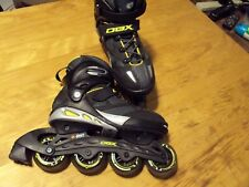Mens Dbx Inline Skates Size 7 Abec 7 80mm Black with Yellow