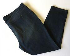 "Womens 24WS Sonoma Skinny Jeans Dark Wash 27"" Inseam Stretch 5 Pocket Whiskering"