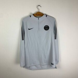PARIS SAINT-GERMAIN PSG FOOTBALL TRAINING JACKET 2017/2018 SOCCER JERSEY NIKE L