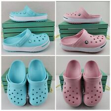 Crocs Crocband II Clogs Ice Blue/ PINK White Unisex Casual Womens