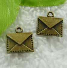 Free Ship 120 pieces bronze plated envelope charms 15x14mm #2128