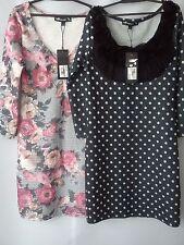 NICE NEW BUNDLE 2x INTERNACIONALE LADIES WOMENS DRESS TUNIC SIZE 8 (EU 36)