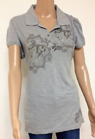 Ladies Denim Guru London Grey T shirt Womens Short Sleeve Top Size XS S M L XL