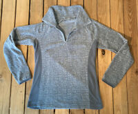 Columbia Women's Long sleeve half zip fleece pullover size M In grey C1