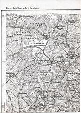 F-57 Heming Gondrexange 1887 1908 kl orig Teil-Karte Réchicourt Ibigny Diane-Cap