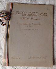 1927 ART BELGE CONTEMPORAIN ALBUM SPÉCIAL 1er SALON DES ARTISTES BELGES À PARIS