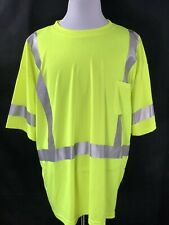 GSS High Visibility Workwear T Shirt Size 4XL Pocket NWOT