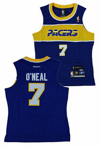 Reebok NBA Basketball Women's Indiana Pacers Jermaine O'Neal #7 Throwback Jersey