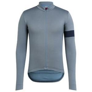 Rapha Men's Classic Long Sleeve Jersey II Colour Grey Blue Size Medium