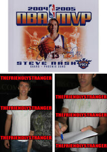 "STEVE NASH signed Autographed ""PHOENIX SUNS"" 8X10 Photo PROOF - 2004 05 MVP COA"