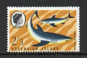 Ascension Island - 1968, Fish (1st Series), 2/3 Mako Shark (sg116) Mint