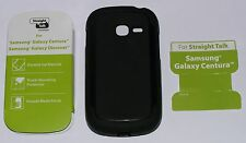 Straight Talk Slip on case, Samsung Galaxy Centura/Discover, Black Matte finish