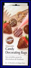 NEW! Wilton **12 inch CANDY DECORATING BAGS** 12ct