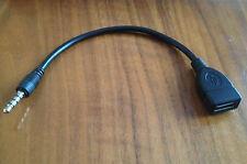 3.5 mm conector jack de audio aux macho a hembra USB Convertidor OTG Cable