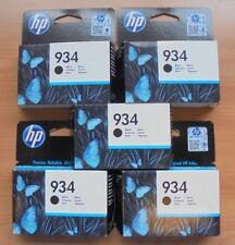 5x HP 934 C2P19AE Tintenpatronen schwarz f. Officejet Pro 6230 6830 04-2018 NEU