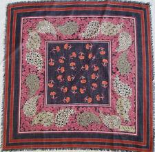 -Superbe Foulard  LANVIN   cachemire & soie  TBEG  vintage scarf  87 x 90 cm