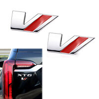 2x Chrome Cadillac V Door Fender Rear Tailgate Emblem for CTS STS XLR CTSV STSV