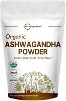 PREMIUM Ashwagandha Powder - NO IRRADIATION Organic Non-GMO - Ashwaganda Powder