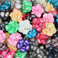 Wholesale 20pcs/lot Mixed 25mm Polymer Fimo Clay Lotus Flower Loose Spacer beads