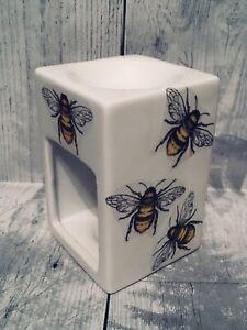 Bee Oil Burner Decoupaged Wax Melt Tea Light Holder Christmas Gift Set Diffuser