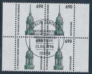 Bund Nr. 1860 gestempelt, Viererblock Vollstempel LUXUS (35216)