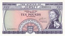 JERSEY 10 POUND SIGNED CLENNETT, PREFIX A, UNCIRCULATED