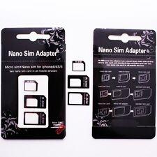 Nano Sim Karten Adapter Set + Sim Öffner für iPhone 3 4 5 Samsung Galaxy S3 S4