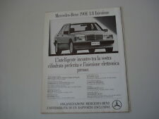 advertising Pubblicità 1991 MERCEDES BENZ 190 E 1.8