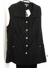 Weste schwarz Gr.42 Marke KjBrand Taschen Baumwollmischung 1/2 Preis