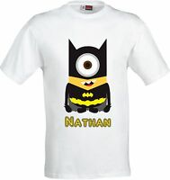 PERSONALISED BAT MAN MINION FULL COLOR SUBLIMATION T SHIRT