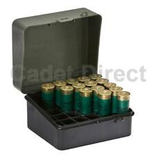 """Plano Shot Shell Box, Holds 12 or 16 Gauge 3.5"""" Shells, Olive Green"""