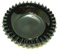 VINTAGE 1970s TIARA INDIANA CAMEO BLACK GLASS ASHTRAY DIAMOND POINT PATTERN USA