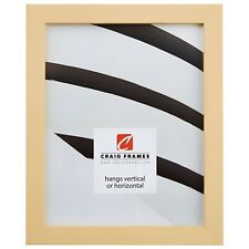 Craig Frames Confetti, Modern Pastel Yellow Solid Wood Picture Frame