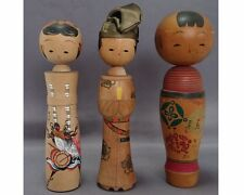 Vintage Japanese lovely nodder Kokeshi doll  3 pieces  1705039