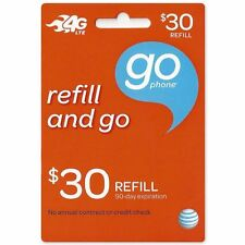 AT&T Go Phone $30 Refill Add Directly To Your Phone Number