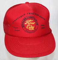 Vtg Flour City Snapback Mesh Hat Trucker Farmer Cap Kinnard & Sons Port Hope MI