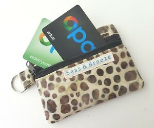 Credit card opal train ticket coin jewelry change zipper purse pouch key chain