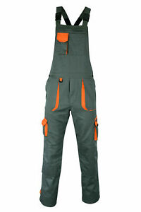 Overalls Bib and Brace Workwear Cargo Unisex Professional Pockets Work Dungaree