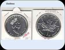 5 DOLARES DE PLATA  AÑO 2002  CANADA ( MB8674 )