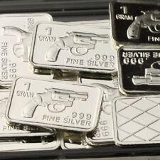 Lot Lot of 30 X 1 Gram  .999 Fine Silver Bar Bullion  /  Revolver  WPT471 oz